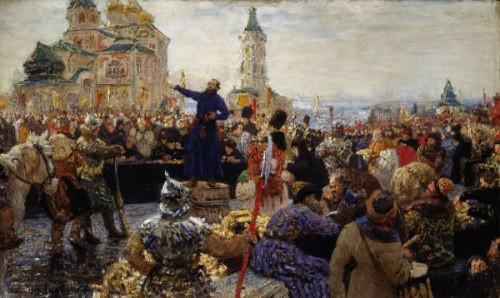 Repin.1915-Klich-Minina-Nizhnemu-Novgorodu