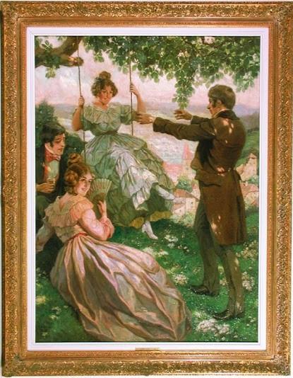 хог.Picnic in Dürnstein-Wachau (1918)