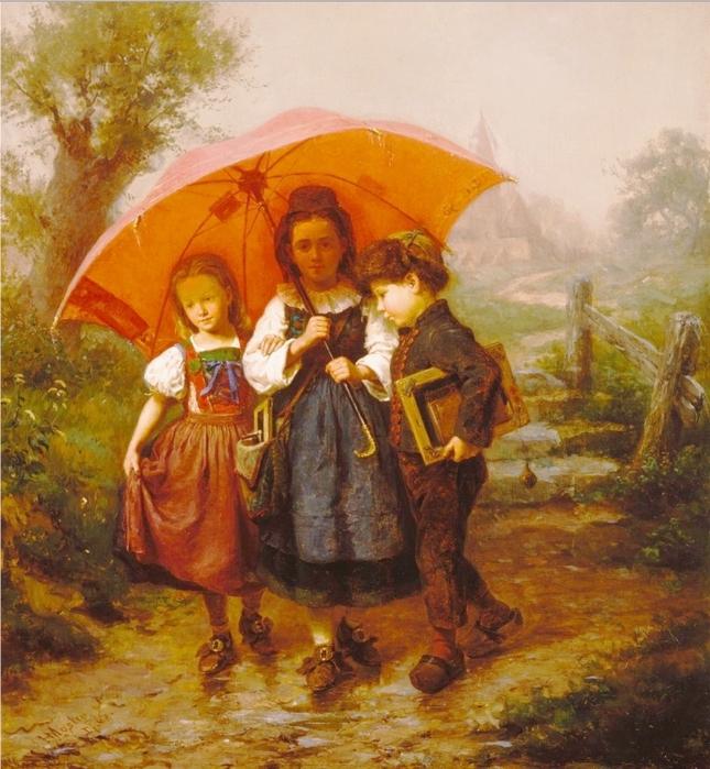 зонт.генри.мослер.дети.под.крас.зонт