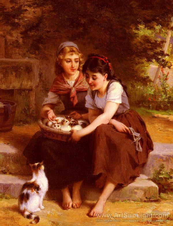 кот.эм.мун-two-girls-with-a-basket