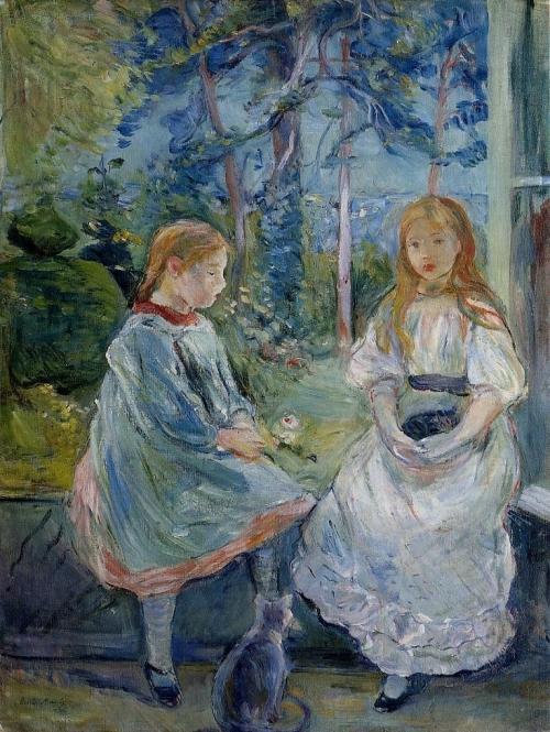 кот.берт.моризо.girls-at-the-window-jeanne-and-edma-bodea