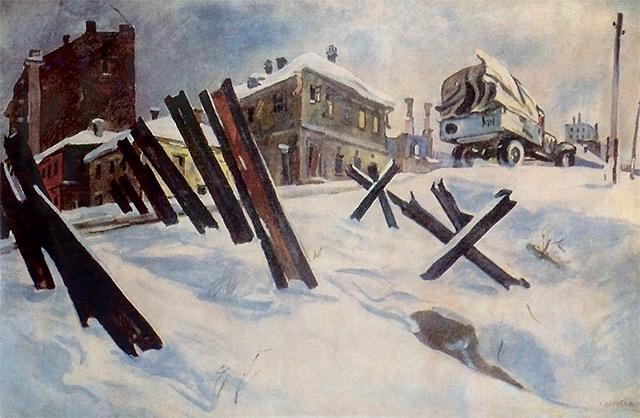 м.с.дейнеко.okraina_mosk_1941