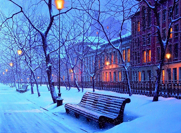 рига фото зима