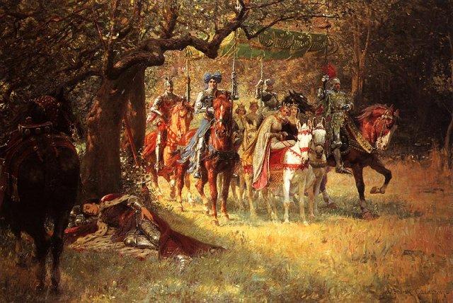Calderon_William_Frank_-_4_Queens_Found_Sleeping_Lancelot