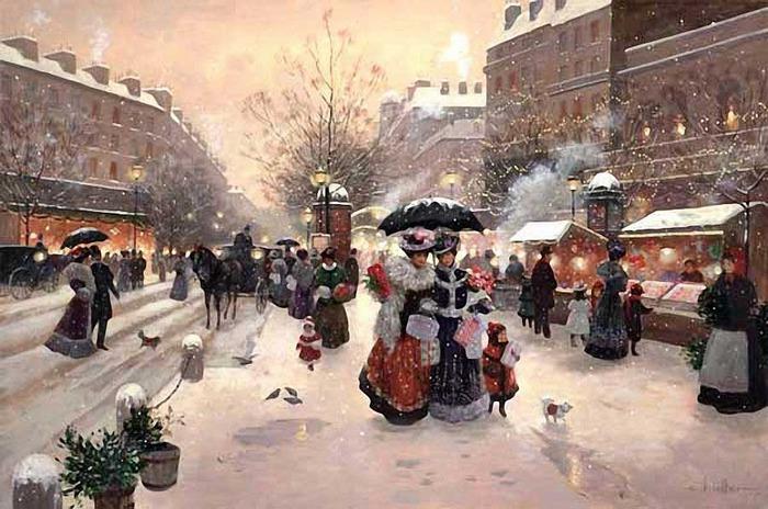 зима.город