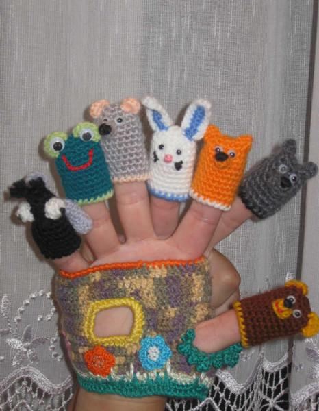 Вязанный пальчиковый театр своими руками