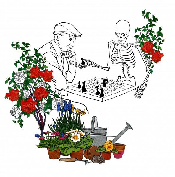 садовник и скелет 1