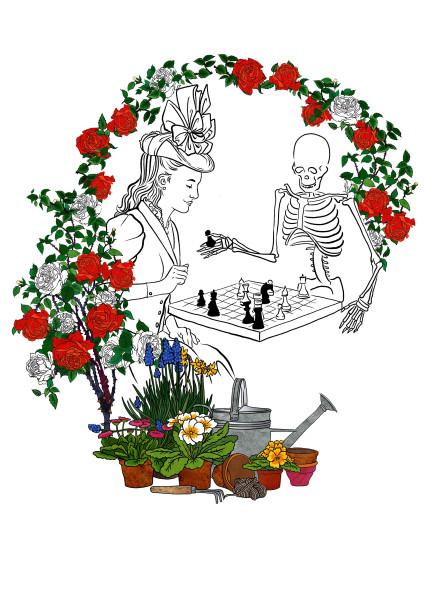 девушка и скелет 3