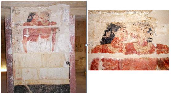 Рис.2 Касание носами . Слева — полное изображение, справа — только верхняя часть