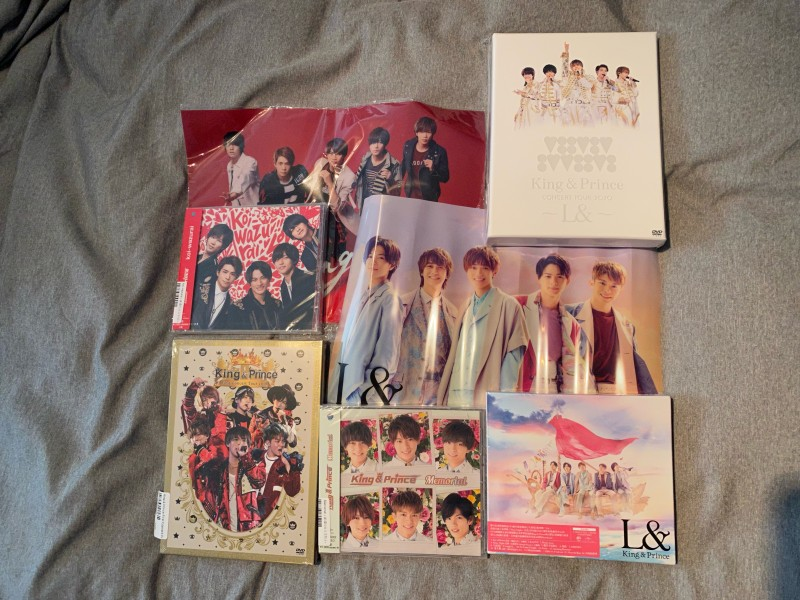 """Limited First Press DVD's of """"1st Concert Tour"""" an """"L& Concert."""" Limited Type B of """"L&"""" album with poster. Regular edition of """"Memorial"""" CD and """"koi-wazurai"""" with poster."""
