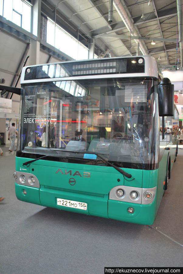 Электробус ЛиАЗ-6274 в Екатеринбурге на выставке Иннопром-2013