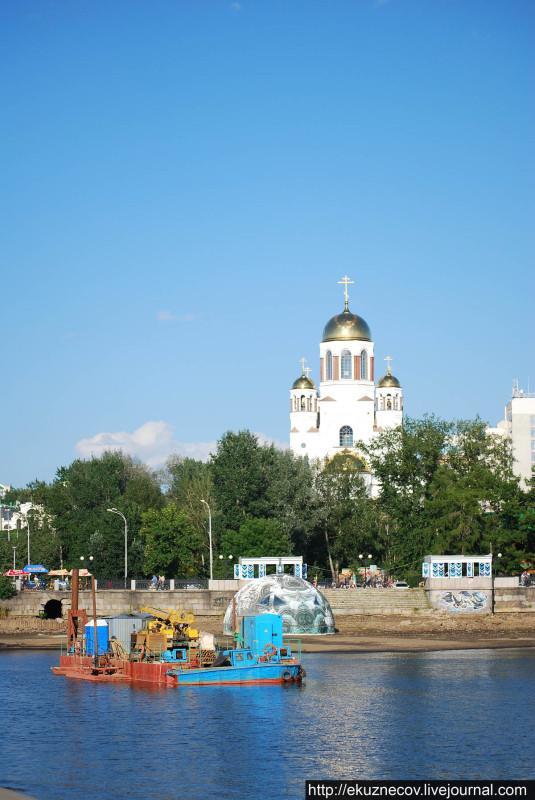 Подготовка к строительству Храма-на-воде (Святой Екатерины)