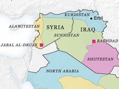 Новая карта Ближнего Востока