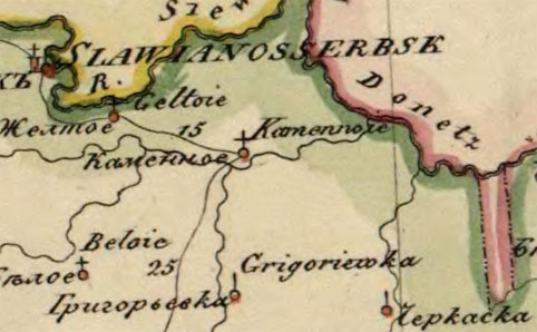 Карта 1821 года