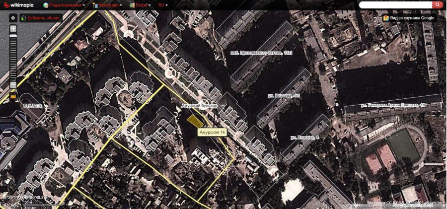 Карта Амурского бульвара и Амурской 14