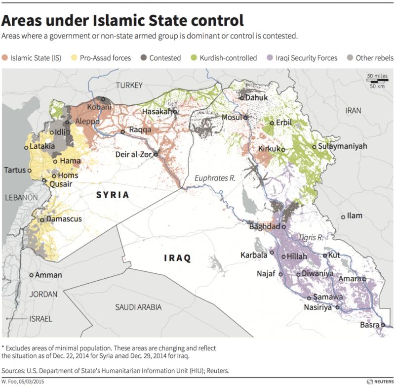 syria iraq map isis assad kurdish iraq security