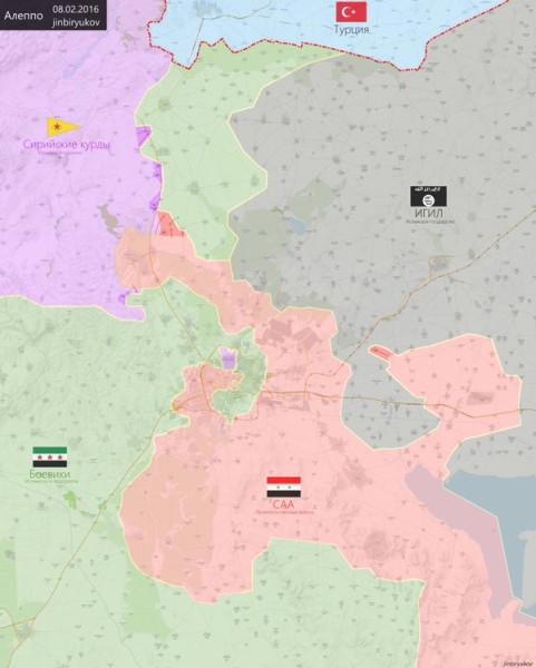 Карта. 8 февраля 16 г