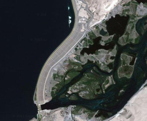 ГЭС Табка. Вид из космоса