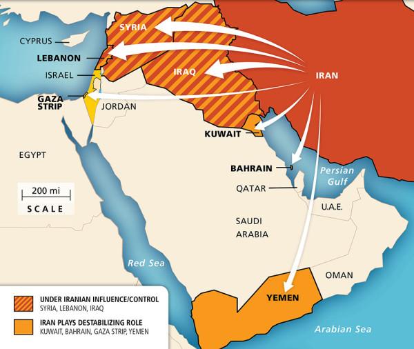 Map Iran Regional Influence