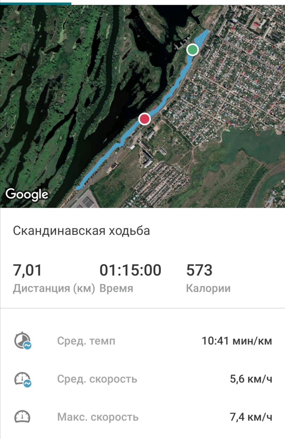 Медленно двигалась. Но свои семь километров прошла