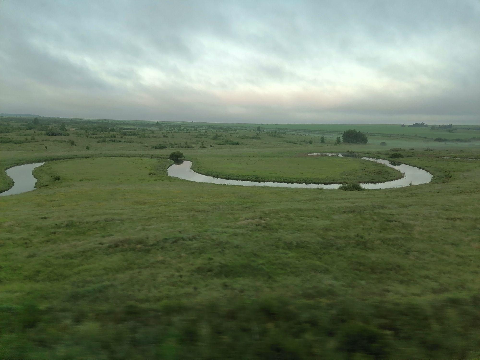 Из окна вагона: Лысогорский район Саратовской области