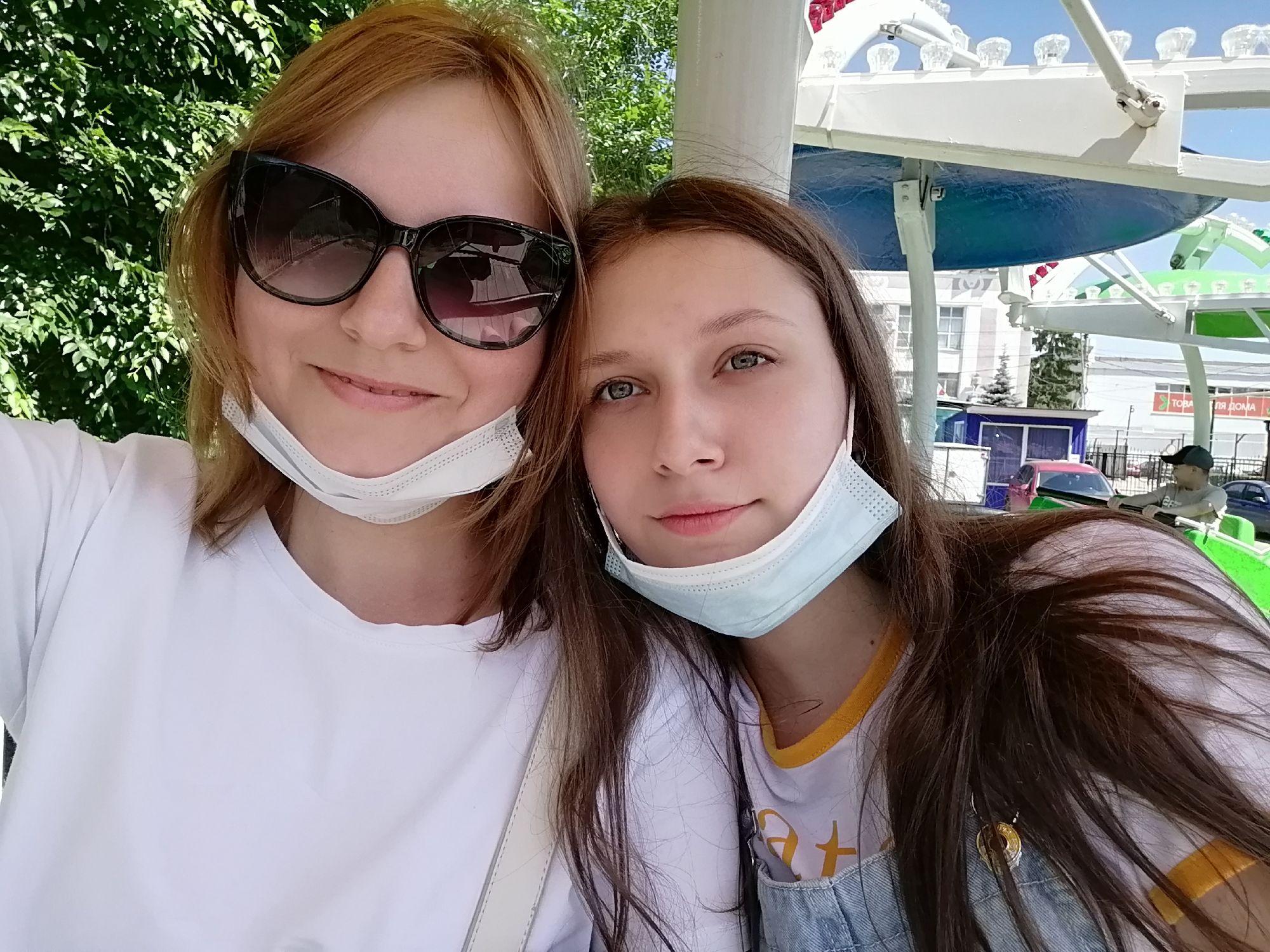 С доченькой