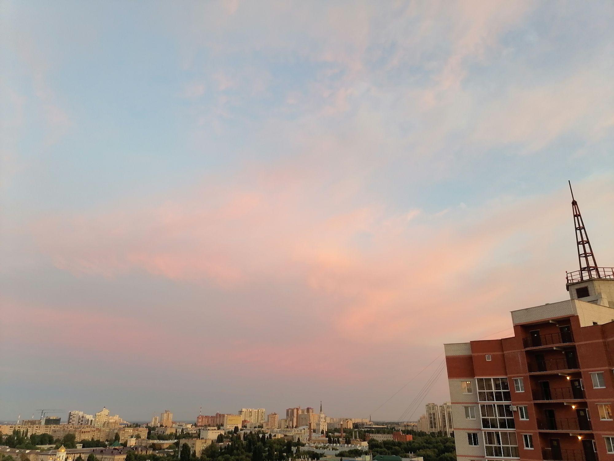 Вечернее небо над Воронежем