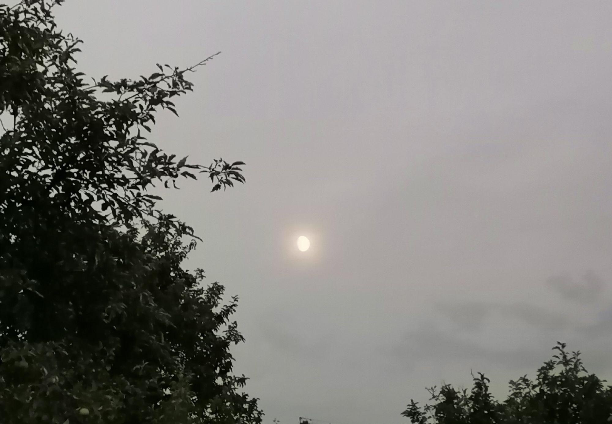 Луна на светлом небе