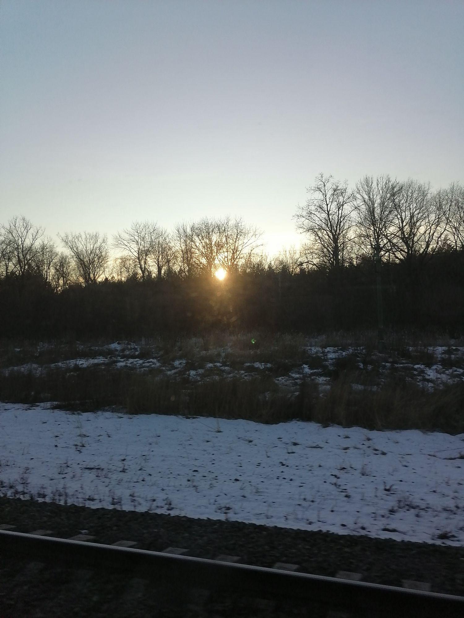 Солнце подглядывает