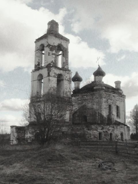 Грустная разрушенная церковь