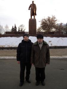 Встреча у памятника В.И.Ленину на Советской площади Саранска