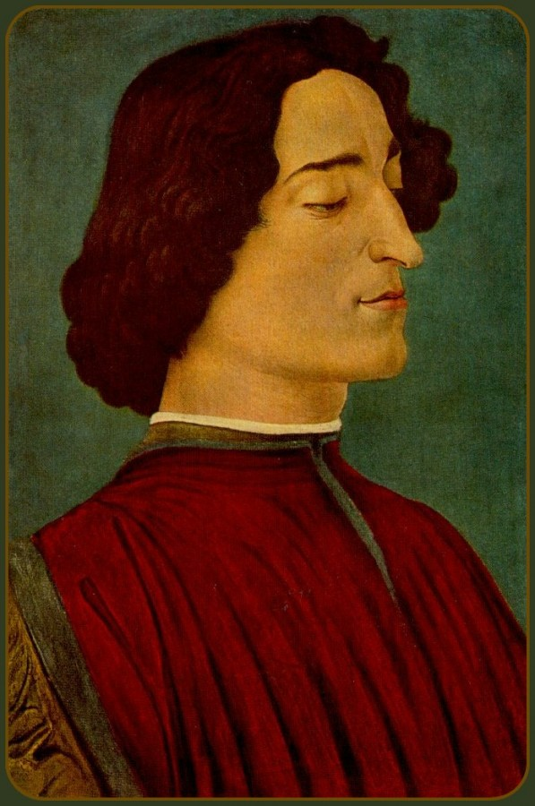 """Portrait of Giuliano de"""" Medici,1478"""