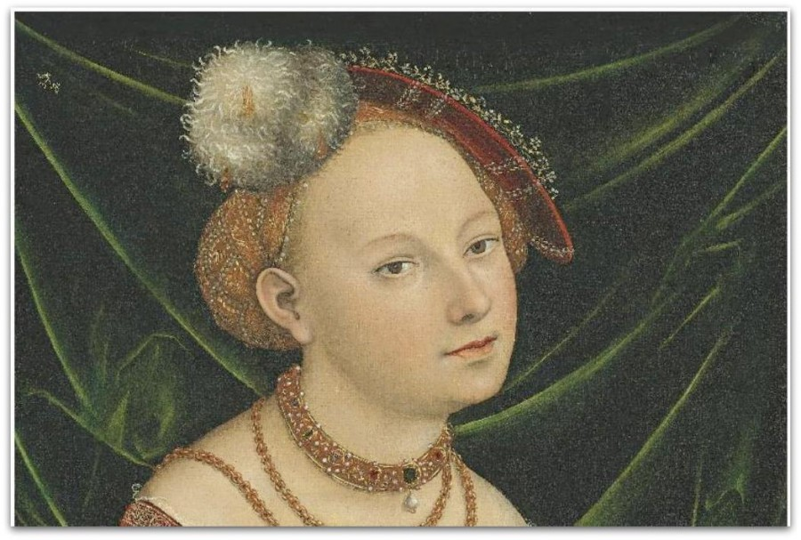 Lucas Cranach the Younger - Portrait of a Woman - Oil on canvas
