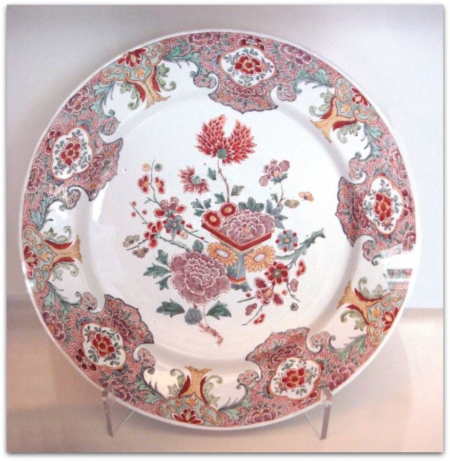 Delft_plate_faience_Famille_Rose_1760_1780