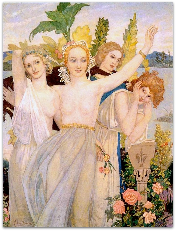 John Duncan 1866-1945 - Scottish Symbolist painter - Tutt'Art@