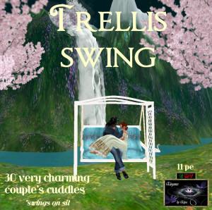 EbE Trellis Swing (Ivory-skyblue) ADc