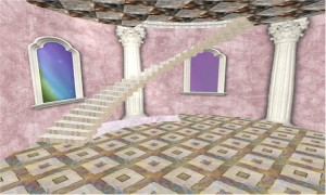 EbE Fairytale Princess Tower stairs to roof