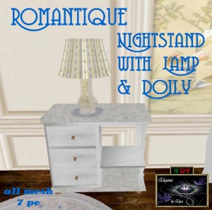 EbE Romantique Nightstand Lamp Doily AD