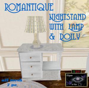 EbE Romantique Nightstand Lamp Doily AD