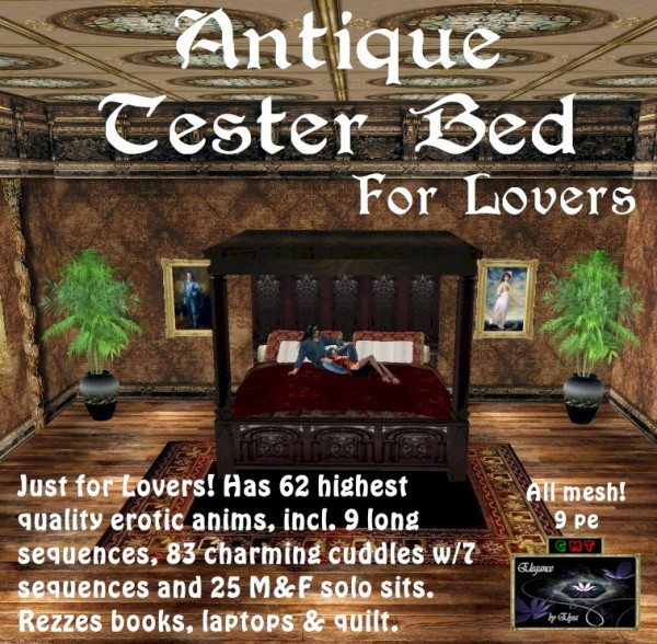 EbE Antique Tester Bed For Lovers ADc
