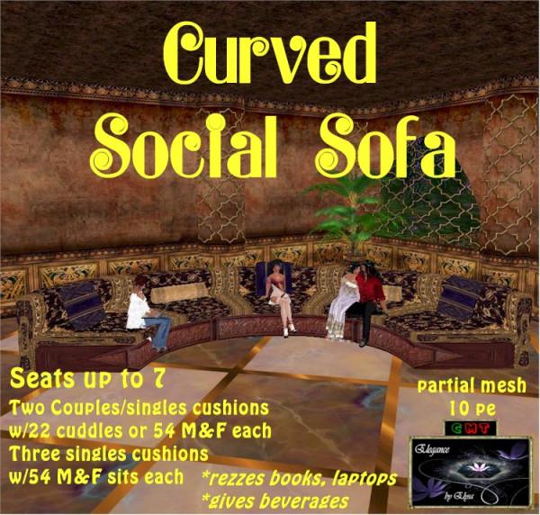 EbE Curved Social Sofa (aubergine) ADc