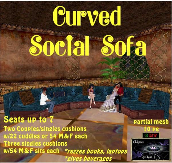 EbE Curved Social Sofa (caribbean) ADc