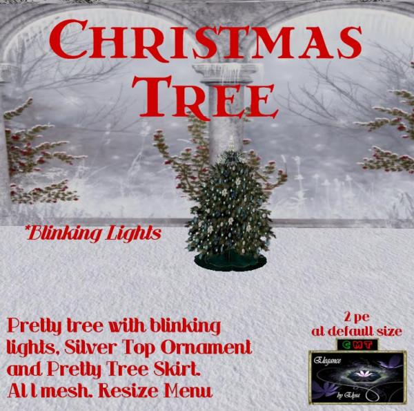 EbE Christmas Tree Blinking (aqua twinkles) ADc
