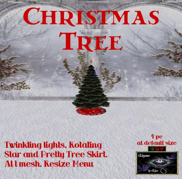 EbE Christmas Tree Twinkling (dk spruce) ADc
