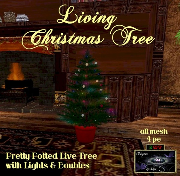 EbE Living Christmas Tree (lights&baubles) ADc