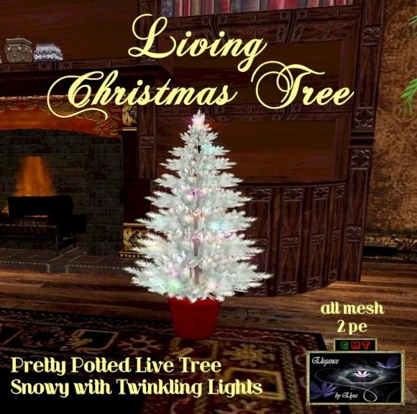 EbE Living Christmas Tree (snowy-lights) ADc