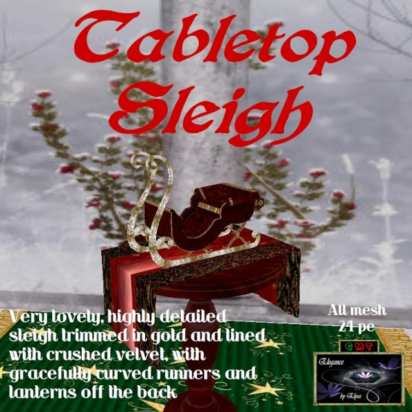EbE Tabletop Sleigh (fancy) ADc