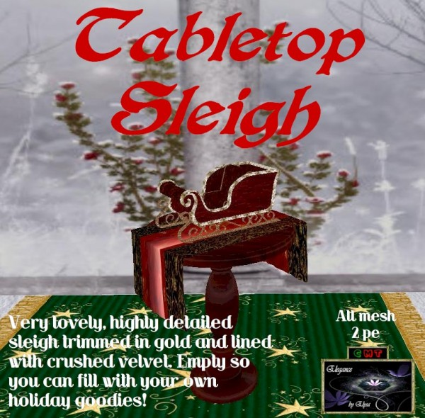 EbE Tabletop Sleigh ADc