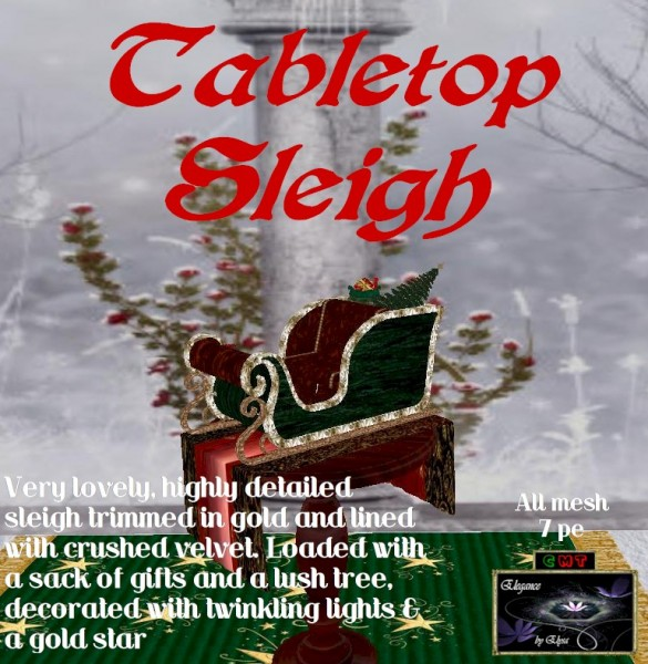 EbE Tabletop Sleigh wPresents&Tree ADc