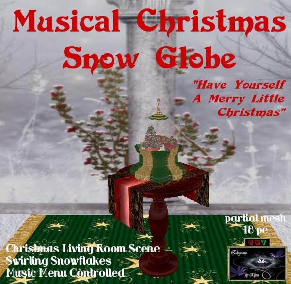 EbE Christmas Snow Globe (Living Room)(green) ADt